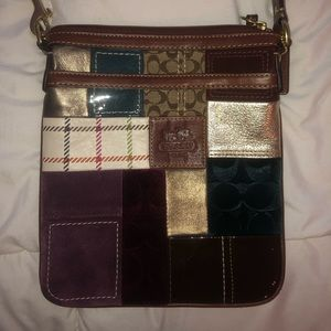 Authentic Coach Crossbody Bag... multi patterned